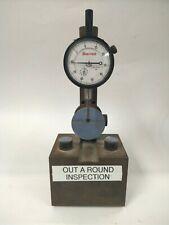 Heavy Duty Gauge Stand With Starrett 25 411 2 Diameter 0 50 0 Dial Indicator