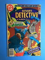 BATMAN'S DETECTIVE COMICS #479 1978 HAWKMAN & Finale of Battle w/ CLAYFACE 44pgs