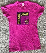 Pearl Jam ladies t shirt xl pink 2018 tour seattle chicago boston pj new