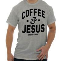 Coffee & Jesus Christ Funny Religious Faith God Christian T-Shirt Tee