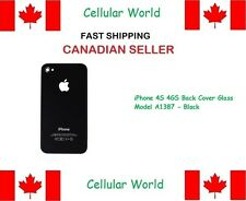 Iphone 4S 4GS Back Cover Glass Model A1387 - Black - 9501