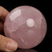 342g 63mm Natural Pink Rose Quartz Crystal Sphere Healing Ball Chakra