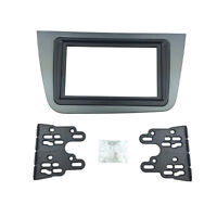 2 Din Radio Fascia for Seat Altea Toledo Stereo Panel DVD Dash Mount Frame Kit