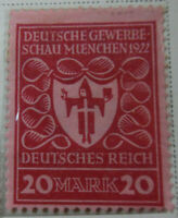 Germany 1922-23 Stamp 20 Mark MNH Stamp Rare Antique Excellent StampBook1-135