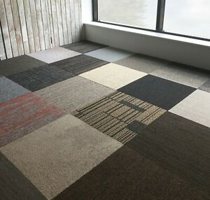 Carpet Tiles Various Soft Cut Pile UK Brand All New box of 20 Delivered 5m2 HD