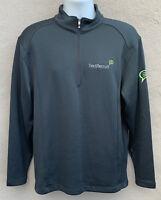 Nike Golf Mens 1/4 Zip Long Sleeve Pullover Sweater Gray Medium Corporate Logo