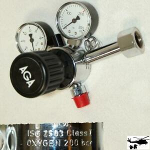 AGA Druckminderer Sauerstoff 200bar IO2 Flaschenanschluss: G 1/2 Zoll Druckminde