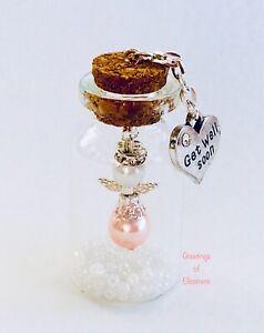 GET WELL MINIATURE ANGEL GIFT Keepsake Bottle Get Well Soon Fairy Gift Present