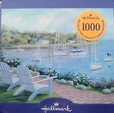 """Hallmark Puzzle in collector  Tin """"  Lazy Afternoon on the Bay """" 20"""" x 24"""" 1000"""