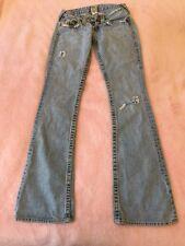 Jeans True Religion Rainbow 25 26 34 Gelb Denim Hose Bootcut