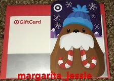 "Target Christmas 2016 Gift Card ""Walrus With Candy Cane Tusks"" No Value New"