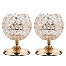 2pcs Globe Crystal Votive Tealight Candlestick for Wedding Centerpieces S