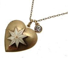 Heart Lockets Long Length Necklaces Gold Tone Heart Jewellery