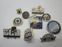 Lot of 10 motorcycle run pins button pin tour vintage motorbike club gang old