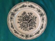 American Atelier Floral Toile Black 5800 Stonewear 10.5' Dinner Plate