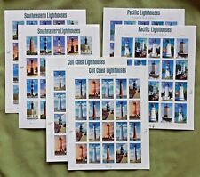 Combo: 2 each of SOUTHEASTERN 37¢, PACIFIC 41¢, GULL COAST 44¢ Lighthouses Stamp
