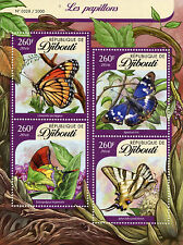 Djibouti 2016 MNH Butterflies 4v M/S Insects Viceroy Purple Emperor Butterfly