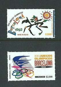 MEXICO 1992 - SUMMER OLYMPICS Barcelona (2nd & 3rd Issues) SG 2050 & 2057 - MNH