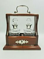 Vintahe Solid Silver Collar Crystal Decanters & Wood Tantalus Mappin & Webb 1994