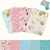 Waterproof Changing Diaper Pad Cotton Washable Baby Infant Urine Mat Nappy Bed