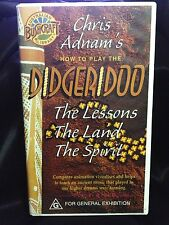 CHRIS ADNAM'S HOW TO PLAY THE DIDGERIDOO ~ AS NEW RARE VHS VIDEO