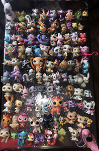 Littlest Pet Shop LPS bobble head Huge Lot 100 pets Play Quality