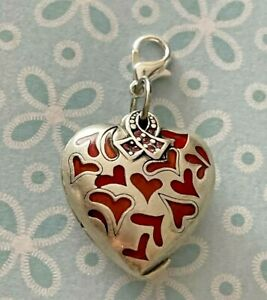 Brighton HEART Red Pink Breast Cancer Survivor Opens/Closes Trust ABC Charm