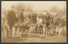 Postcard New Forest Hunting Hounds hunt meet from Lyndhurst collection RP early