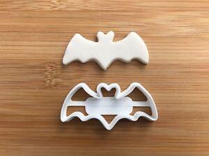 Halloween Uk Seller Plastic Biscuit Cookie Cutter Fondant Cake Decor Witch BAT