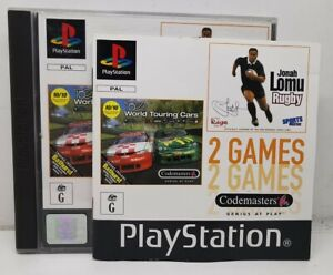 RARE TOCA World Touring Cars and Jonah Lomu Rugby- 2 Games- Ps1