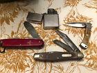 Vintage pocket Knife/lighter Lot- Old Timer Swiss Army