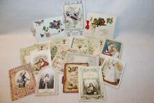 fantaisie - bel ensemble de 17 cartes postales et canivet