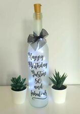 LED Light Up Bottle Personalised 18th 21st 40th 50th Birthday - Rose Gold Option