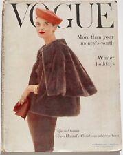 1955 Norman Parkinson VOGUE vtg fashion magazine Henry Moore Marlene Dietrich