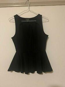 Ice Clothing Ladies Size Small Black Singlet Frill Bottom