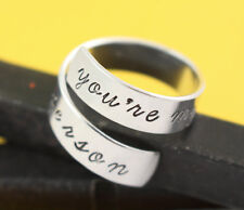You're My Person Adjustable Twist Wrap Ring - Aluminum - Love Couples BFF gift