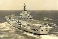 HMS Ark Royal RO9 - Aircraft landing pictured 1966