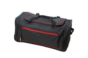 """Large Wheeled Holdall - Extendable Handle Lightweight Bag - 4 Colours - 30"""" 98L"""