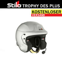 FIA Stilo Trophy Des Plus RALLY Helme mit HANS Kevlar SNELL 2010 intercom