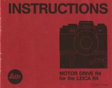 Leica Motor Drive R4 Instruction Manual