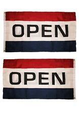 3x5 Open Flag Sign Double Sided 2 ply Polyester 3x5 Banner Grommets Business