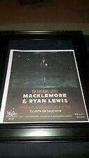 Macklemore And Ryan Lewis Rare Winstar Casino Concert Promo Ad Framed!
