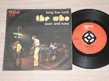 "THE WHO - LONG LIVE ROCK / PURE AND EASY - RARO 45 GIRI 7"" ITALY"