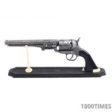 Western Cowboy Black Powder Outlaw Revolver Pistol Replica Gun w/ Stand-BLACK