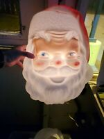 Vintage 1969 Large Lighted 15 x 12 inch Santa Head Face Blow Mold Empire Plastic