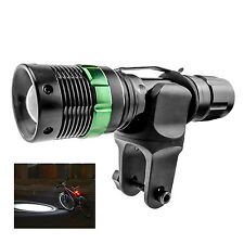 3-Mode 7W 500LM Gree LED Bike Light Lamp Flashlight + Battery + Charger + Mount