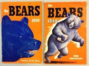 1949 & 1950 Chicago Bears Football Media Guides