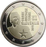 Slowenien 2 Euro 2011 Franc Rozman Stane Gedenkmünze Polierte Platte
