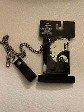 The Nightmare Before Christmas Jack Tim Burton Disney Tri Fold Wallet And Chain