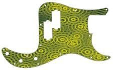 P Bass Precision Graphic Pickguard Custom Fender 13 Hole Guitar Crazy Ripples YL
